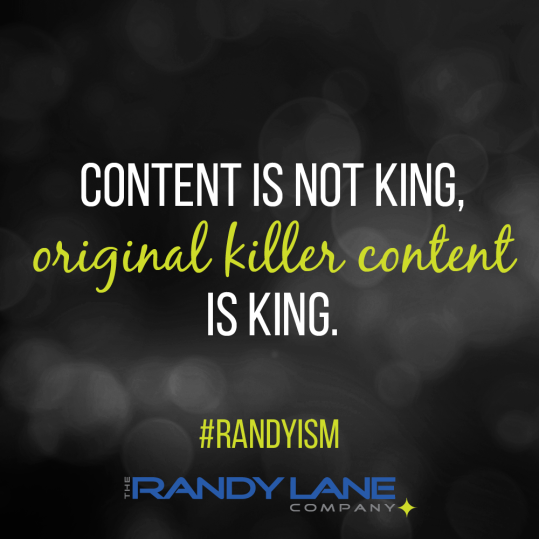 Social Media Graphic for The Randy Lane Company