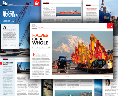 Article Designs for Breakbulk Magazine